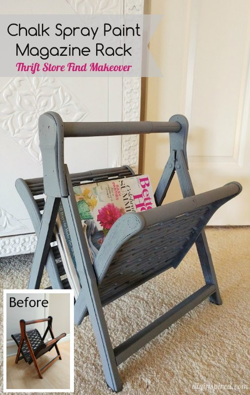 Upcycled Thrift Store Magazine Rack - DIY Inspired