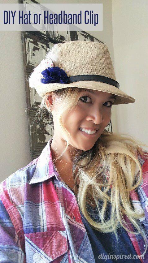 DIY Hat Clip or Headband Clip - DIY Inspired