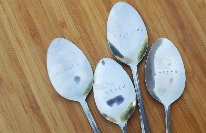DIY Stamped Spoon Garden Markers (12)