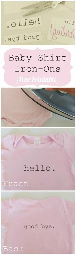 DIY T Shirt Iron-On with Printables - DIY Inspired
