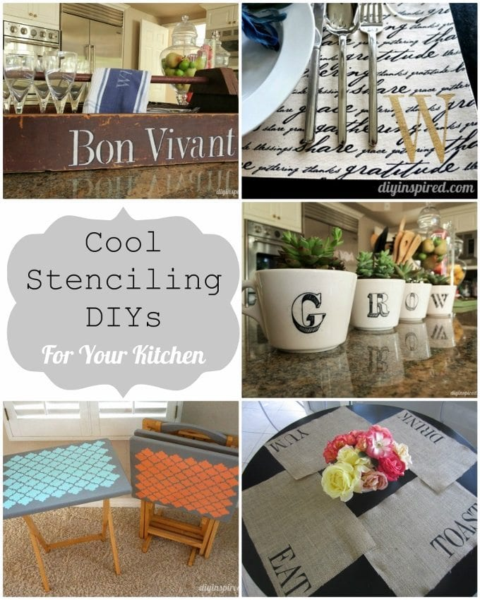 Five Cool Stenciling DIYs for your Kitchen - DIY Inspired