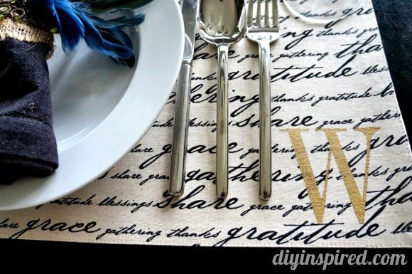 Five Cool Stenciling DIYs for your Kitchen - Monogrammed Placemats