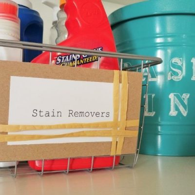 DIY Laundry Room Labels