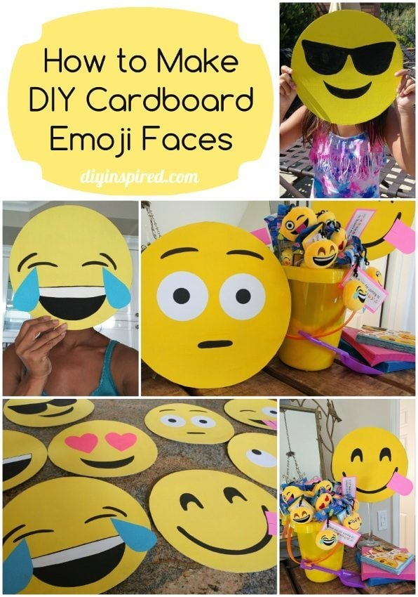 How to Make Cardboard Emoji Faces - DIY Inspired