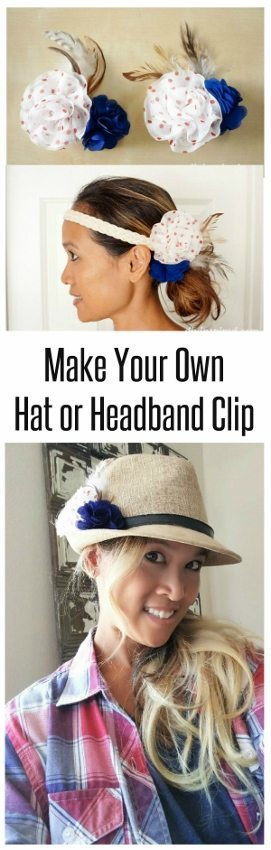 How to Make Your Own Hat or Headband Clip - DIY Inspired