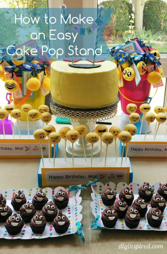 How to Make an Easy Cake Pop Stand - DIY Inspired