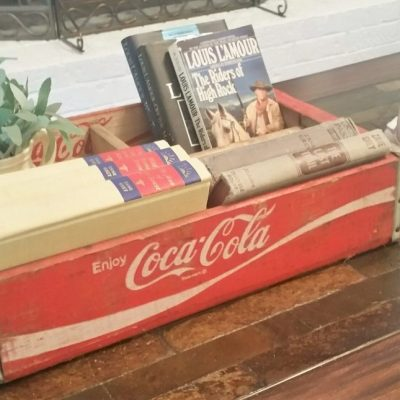 Repurposed Coca Cola Boxes