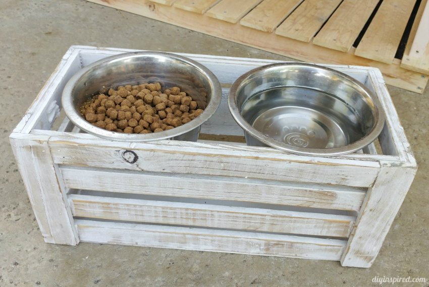 Repurposed Dog Bowl Stand