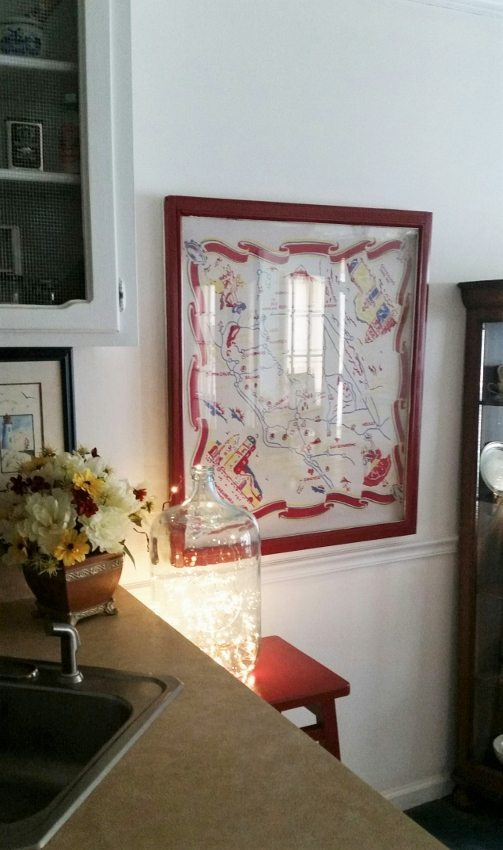 Vintage Tablecloth Wall Art (5)