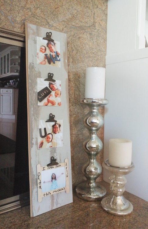 DIY Repurposed Photo Display - DIY Inspired