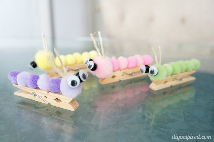 Easy Craft Ideas for Kids - Catapillers