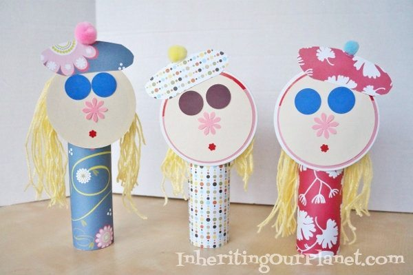 Easy Craft Ideas for Kids - Recycled Dolls