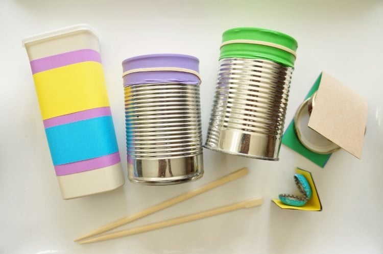 Easy Craft Ideas for Kids - Recycled Instruments