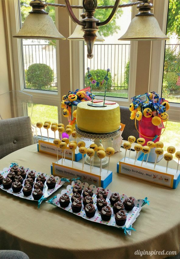 Emoji Birthday Party Dessert Table - DIY Inspired