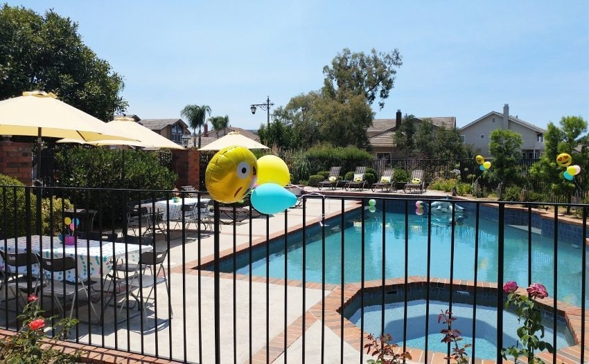 Emoji Birthday Pool Party