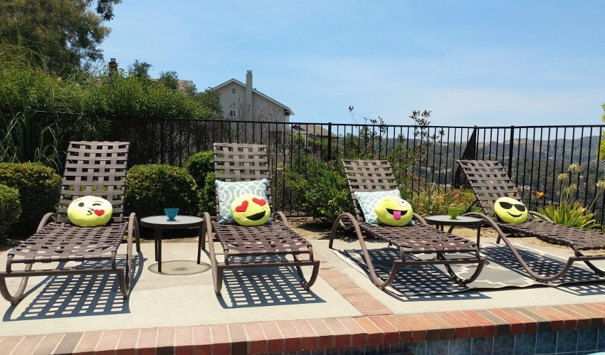 Emoji Party Decorations Pool Party Lounge Chairs