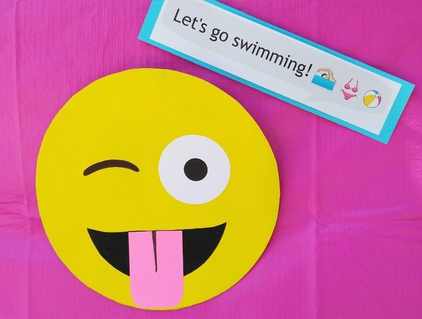 Emoji Party Decorations - Winking Emoji