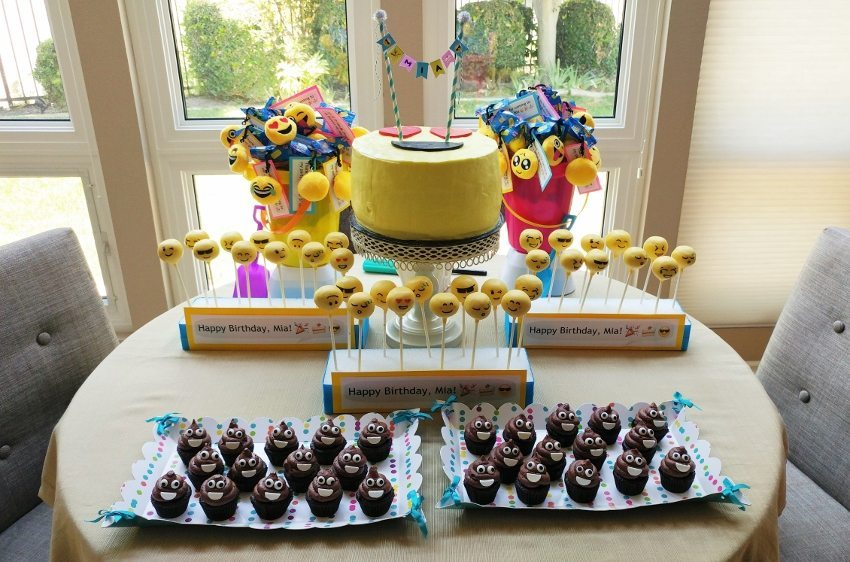 Emoji Party Dessert Table