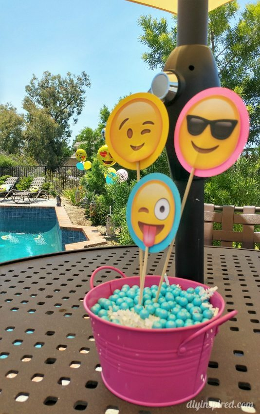 Emoji Pool Party Centerpieces