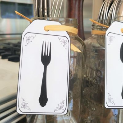 Recycled Jar Utensil Holders with Printable