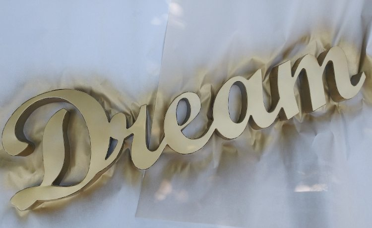Gold Nursery Sign Upcycle