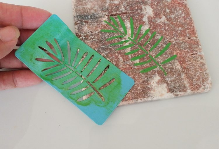 Make a Tile Coaster with Stencils