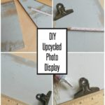 Repurposed Photo Display from Flooring Planks