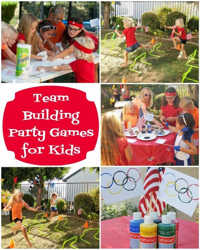 Team Building Party Games for Kids - DIY Inspired