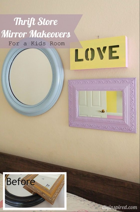 Thrift Store Mirrors Makeover Gallery Wall- DIY Inspired