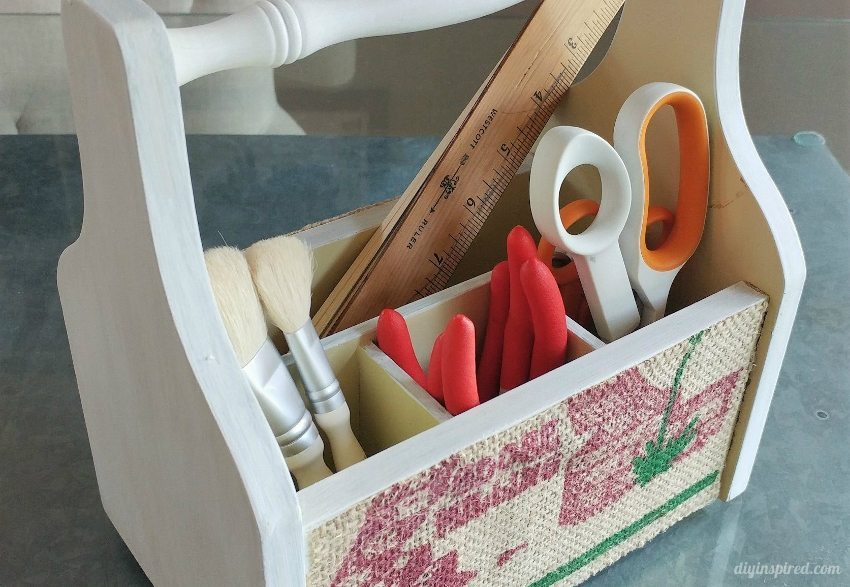 Utensil Holder Makeover with Burlap