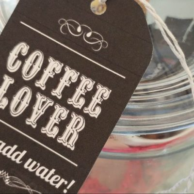 Coffee Lover Gift in a Jar with Printable