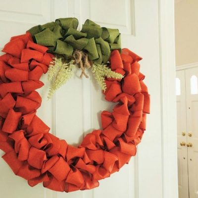 DIY Pumpkin Ribbon Wreath