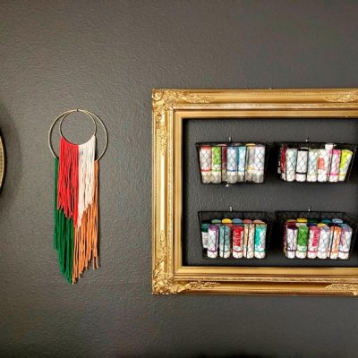 Upcycled Frame to Craft Storage