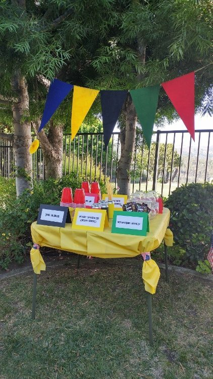 Summer Olympics Party Game Table