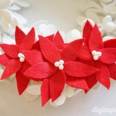 DIY No Sew Felt Poinsettias