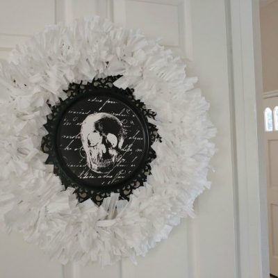 Recycled Plastic Trash Bag Wreath
