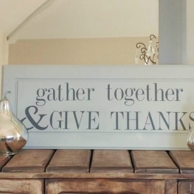Repurposed DIY Thanksgiving Sign