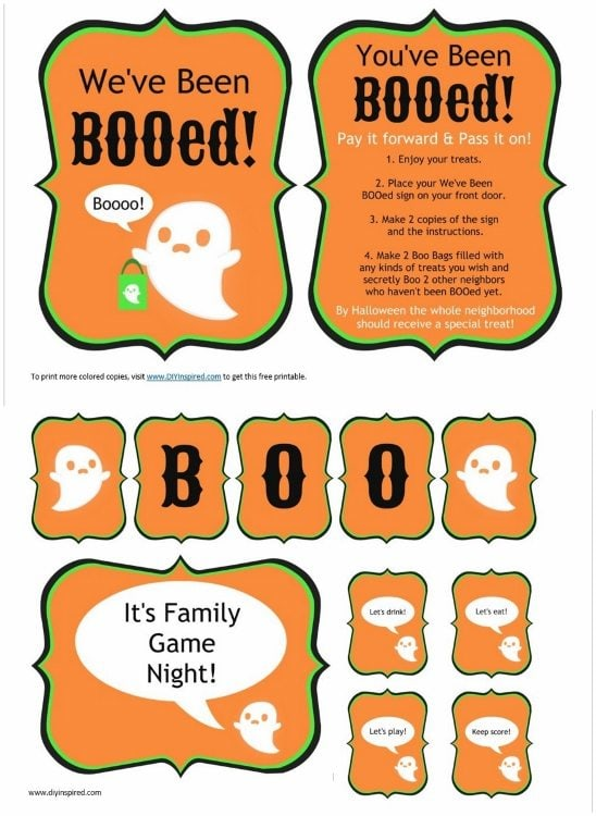 photograph about You've Been Booed Free Printable referred to as Youve Been BOOed Notion with Printables - Do it yourself Encouraged