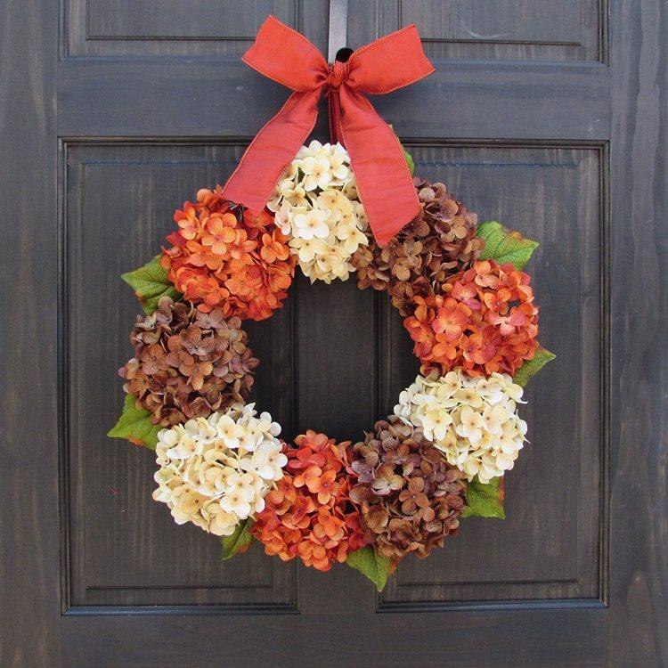 fall-wreaths-hydrangeas