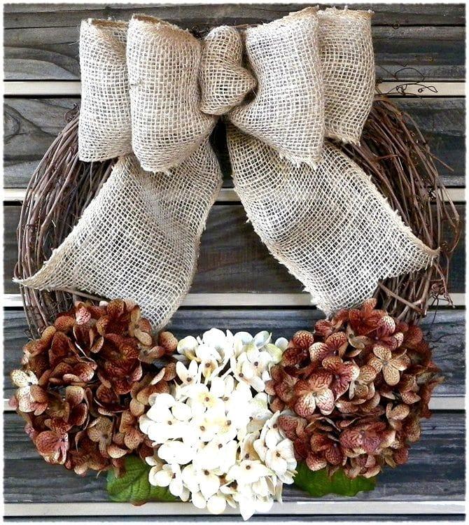 fall-wreaths-with-hydrangeas