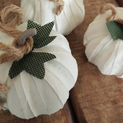 How to Cover Pumpkins in Fabric