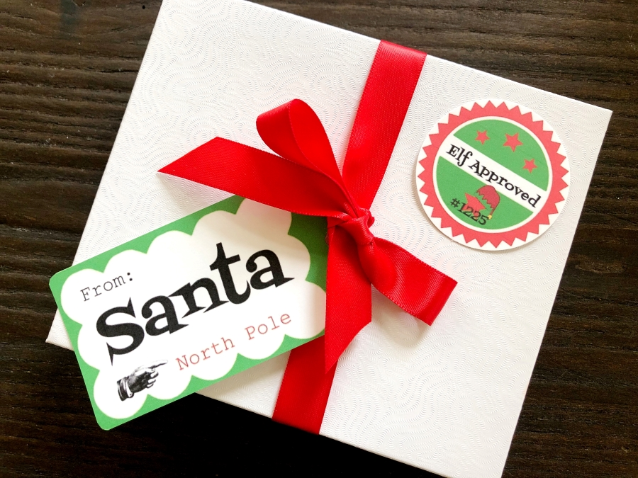 Printable Gift Tags from Santa