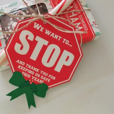 Crossing Guard Christmas Gift Tags Printable