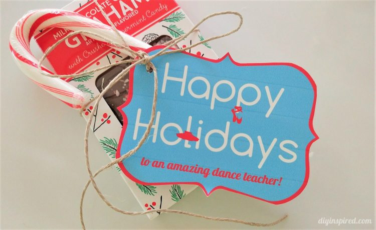 dance teacher printable christmas gift tags