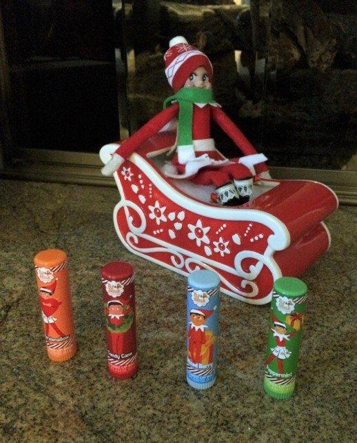 elf-on-the-shelf-ideas-bringing-lip-balm