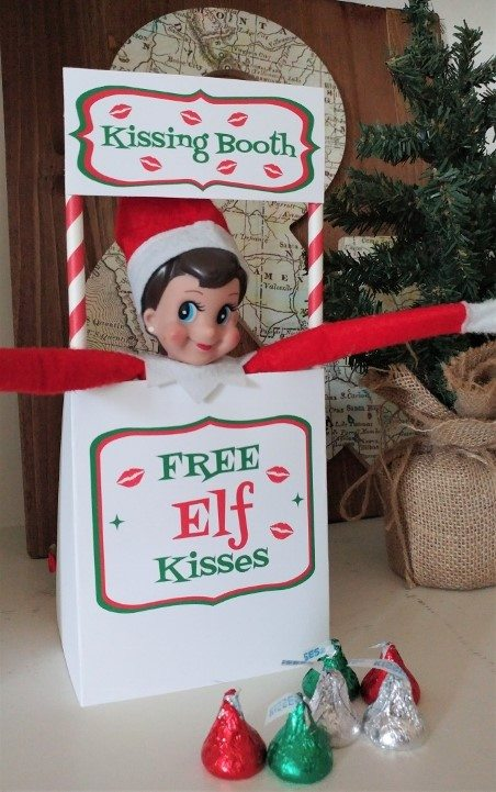 photo relating to Elf on the Shelf Kissing Booth Free Printable identify Do-it-yourself Encouraged Elf upon the Shelf Plans - Do-it-yourself Encouraged
