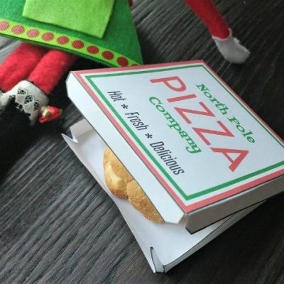 Elf on the Shelf Pizza Box Template