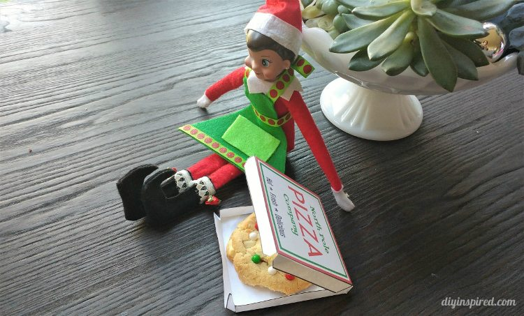 Elf On The Shelf Pizza Box Template Diy Inspired
