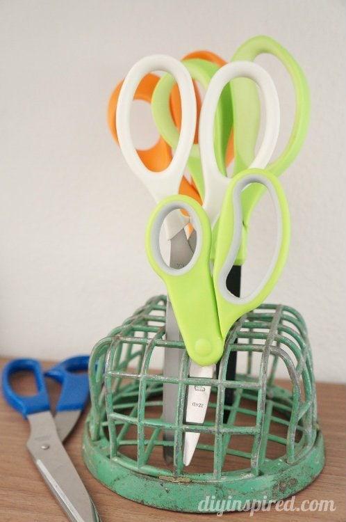 Repurposing Ideas Flower Frogs To Hold Scissors Diy Inspired