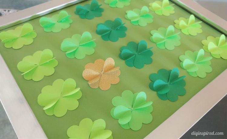 DIY Four Leaf Clover Paper Art